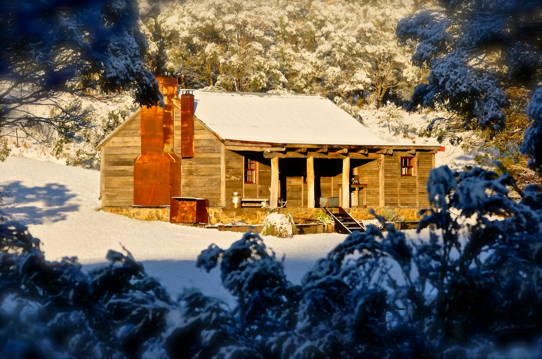 Deep Winter Snow at Moonbah River Hut