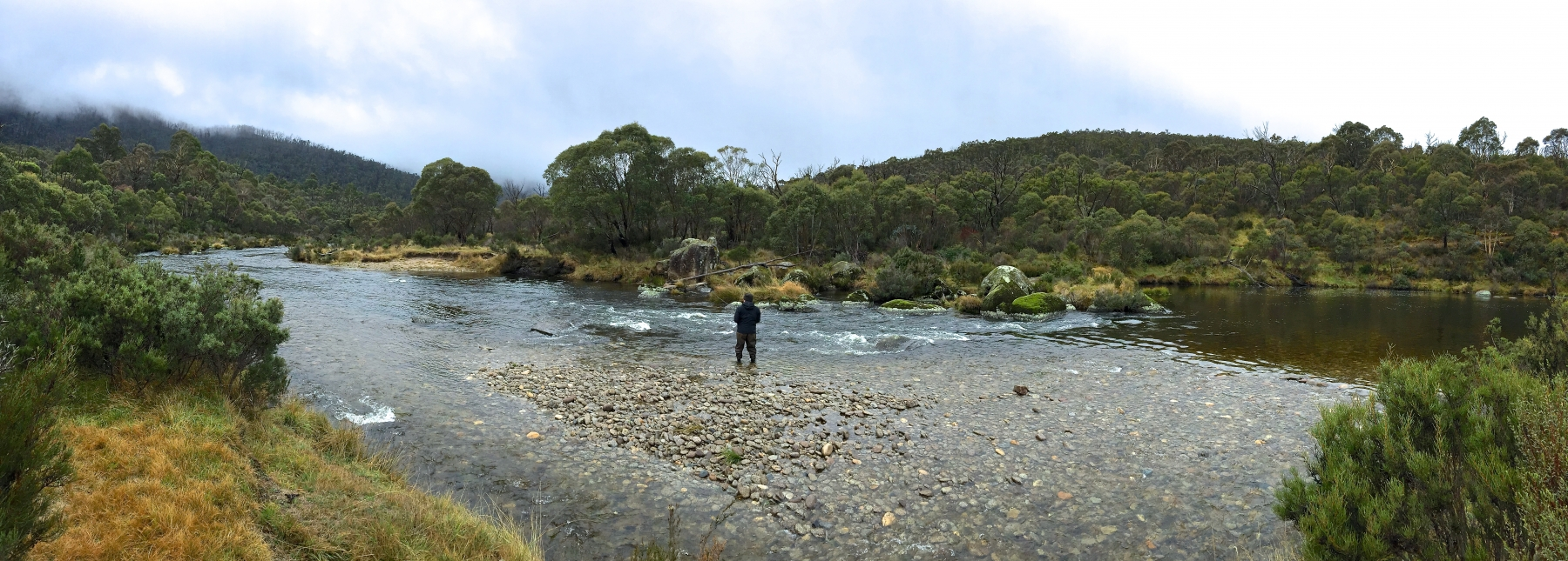 Fishing the nearby Thredbo River