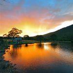 Sunset at Moonbah Hut Lake Hut