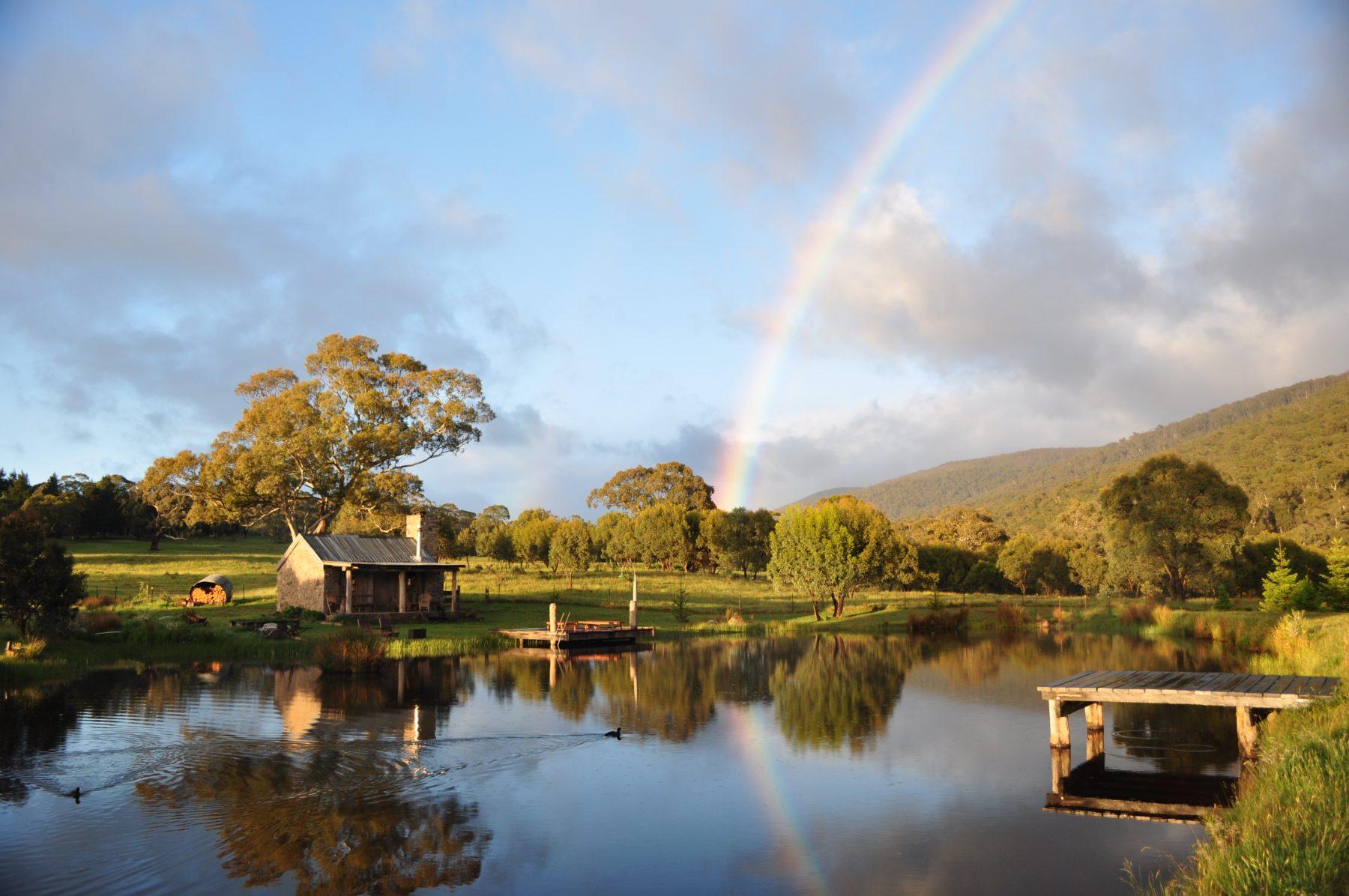 Moonbah Hut Spring Rainbow