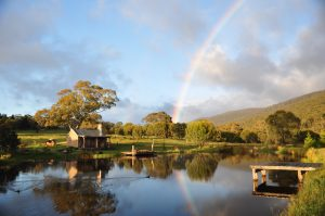 Moonbah Hut Spring Rainbow