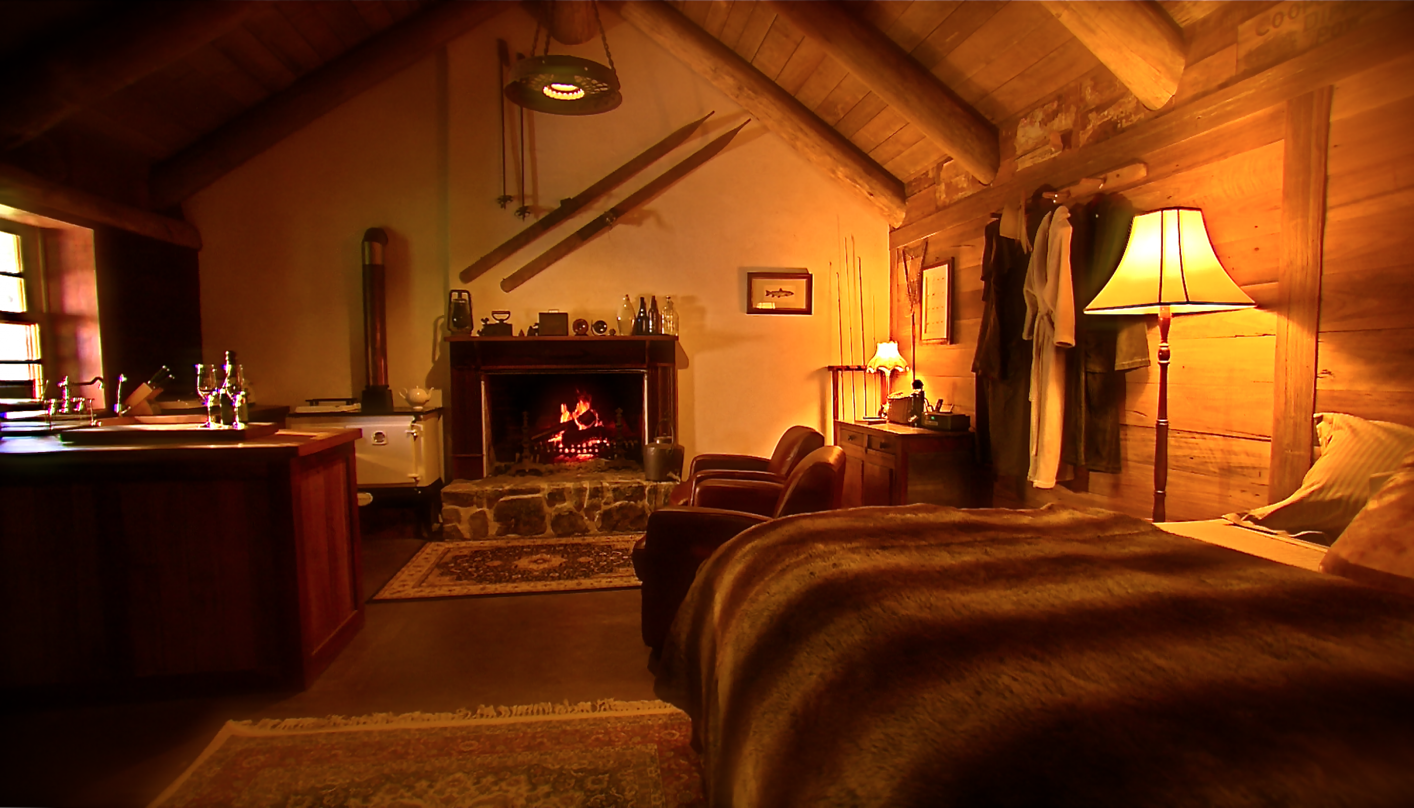 Moonbah River Hut Cosy Bed Open Fire