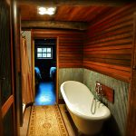 Luxurious bathroom in Moonbah River Hut
