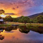 Sunset Moonbah Lake Hut Photo by guest Colin Chang