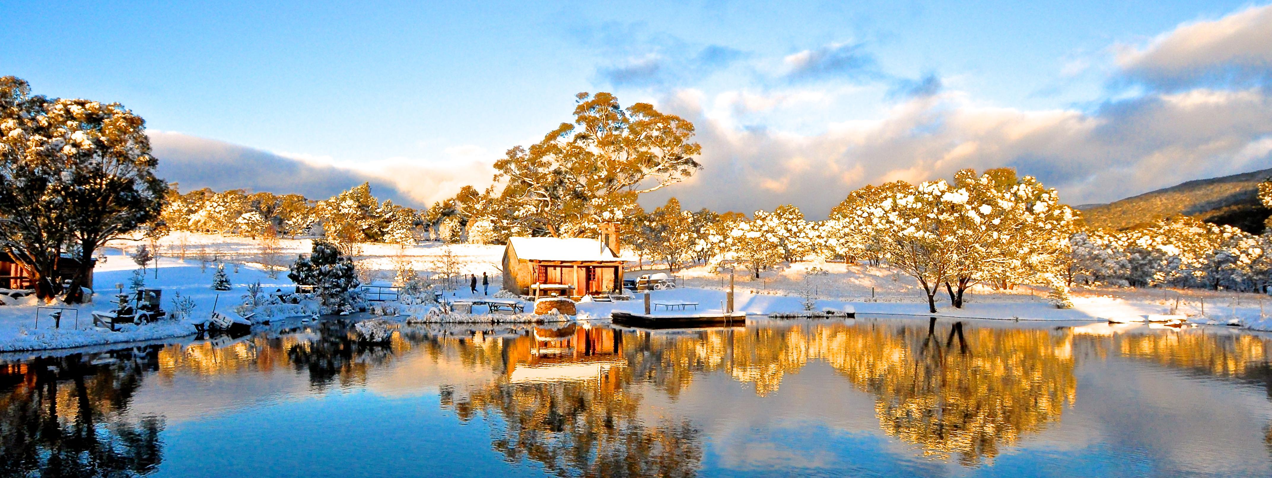 Winter at Moonbah Lake Hut