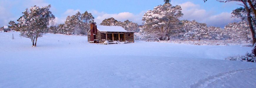 Winter at Moonbah River Hut