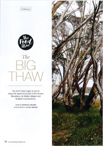 Australian Traveller Magazine Feature Moonbah Hut August 2015